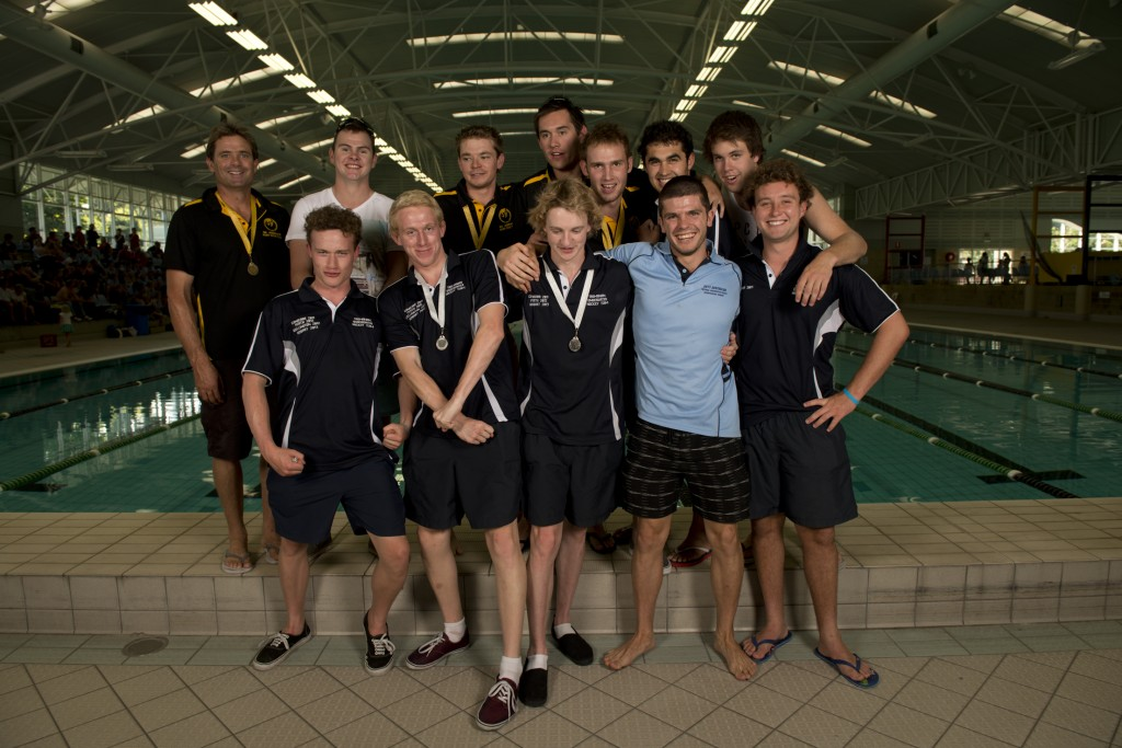 2013 Australian U23 Men's Underwater Hockey team. Photo by Jack Robert-Tissot.