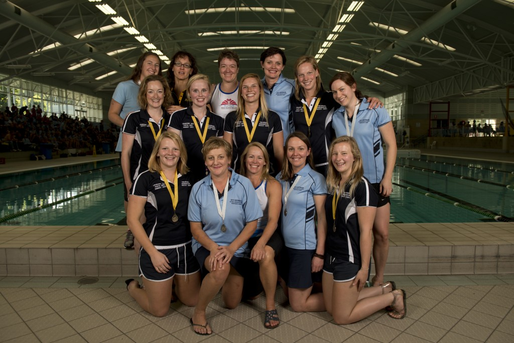 2013 Australian Women's Underwater Hockey team. Photo by Jack Robert-Tissot.