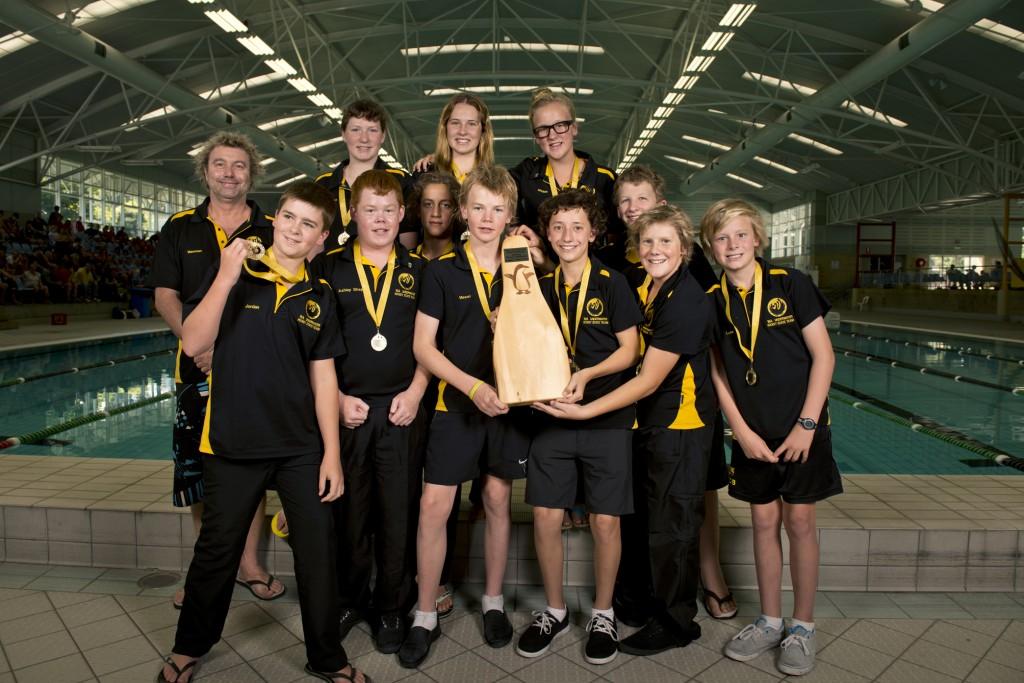 2013 Australian Underwater Hockey Championships U15 Gold Medal winning team: Western Australia