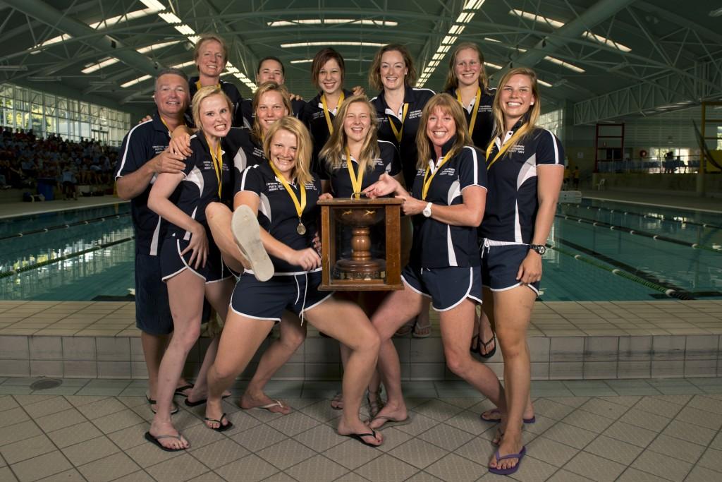 2013 Australian Underwater Hockey Championships Women's Gold Medal winning team: Tasmania.