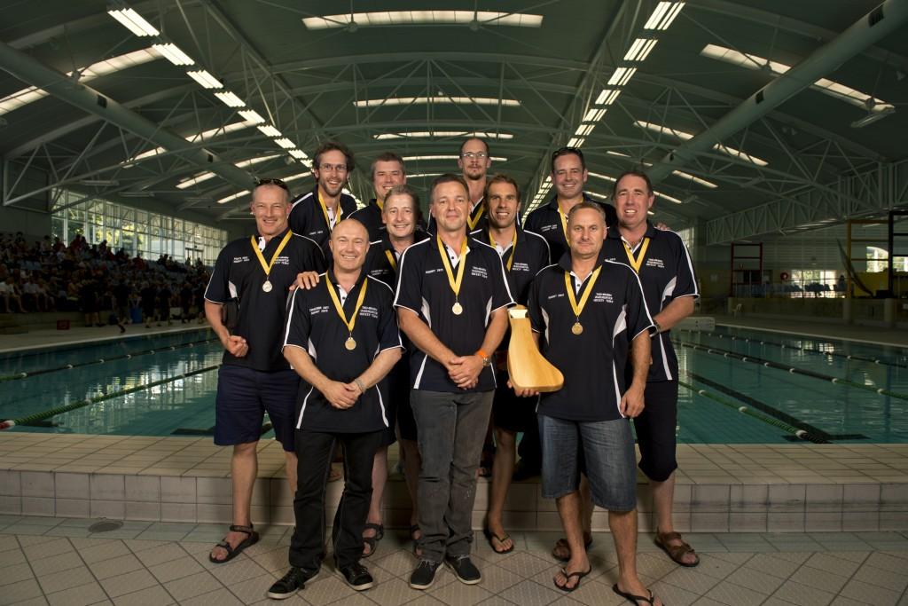 2013 Australian Underwater Hockey Championships Masters Gold Medal winning team: Tasmania.